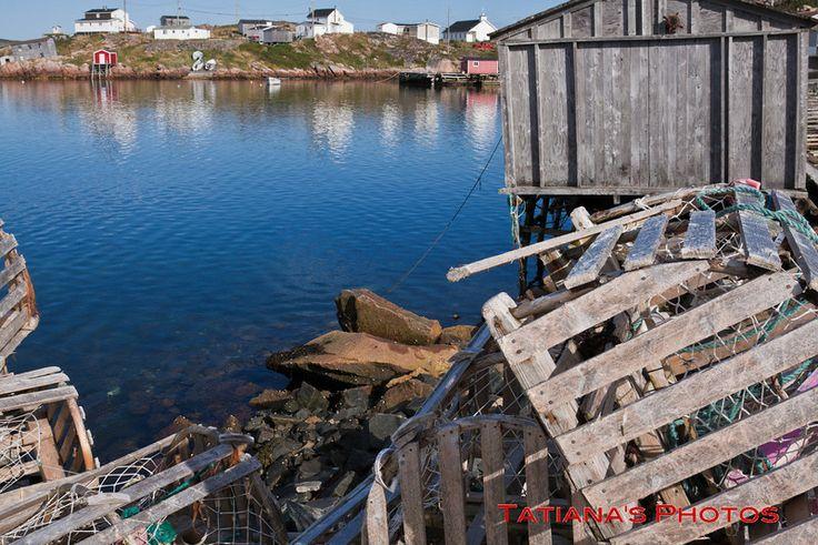 Lobster traps on Fogo Island, NFL