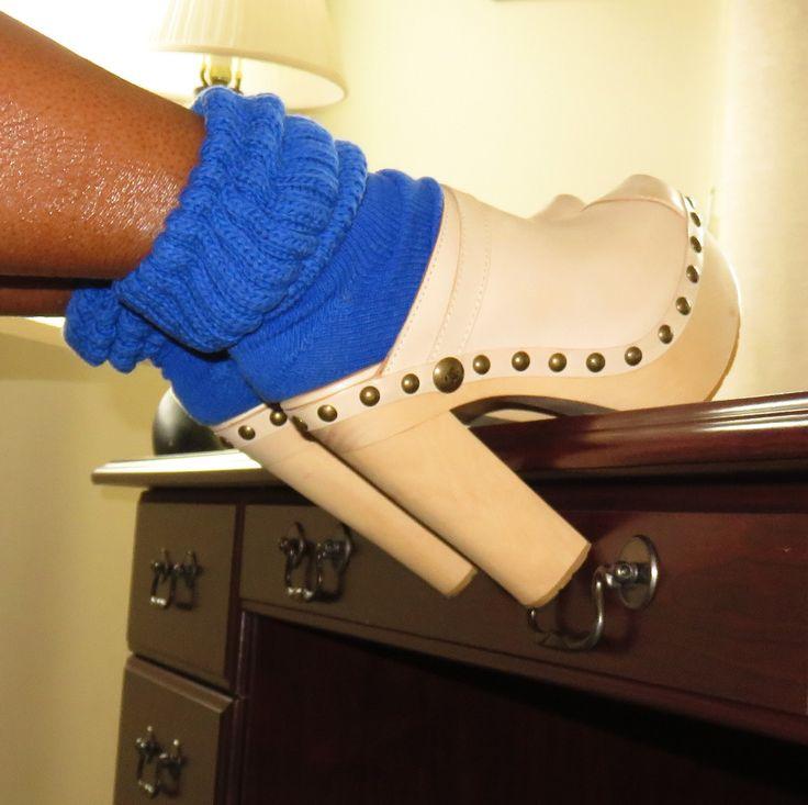 https://flic.kr/p/NRJ7M1 | Chanel Clogs and Blue Slouch Socks