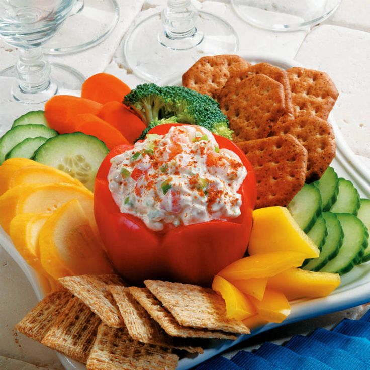 OLD BAY Party Dip  For a festive presentation, serve dip in a seeded bell pepper.