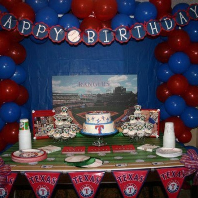 149 best Rangers party images on Pinterest Baseball party