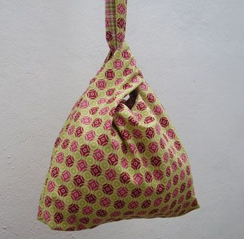 japanese knot bag | strong cotton with beautiful patterns...… | Flickr