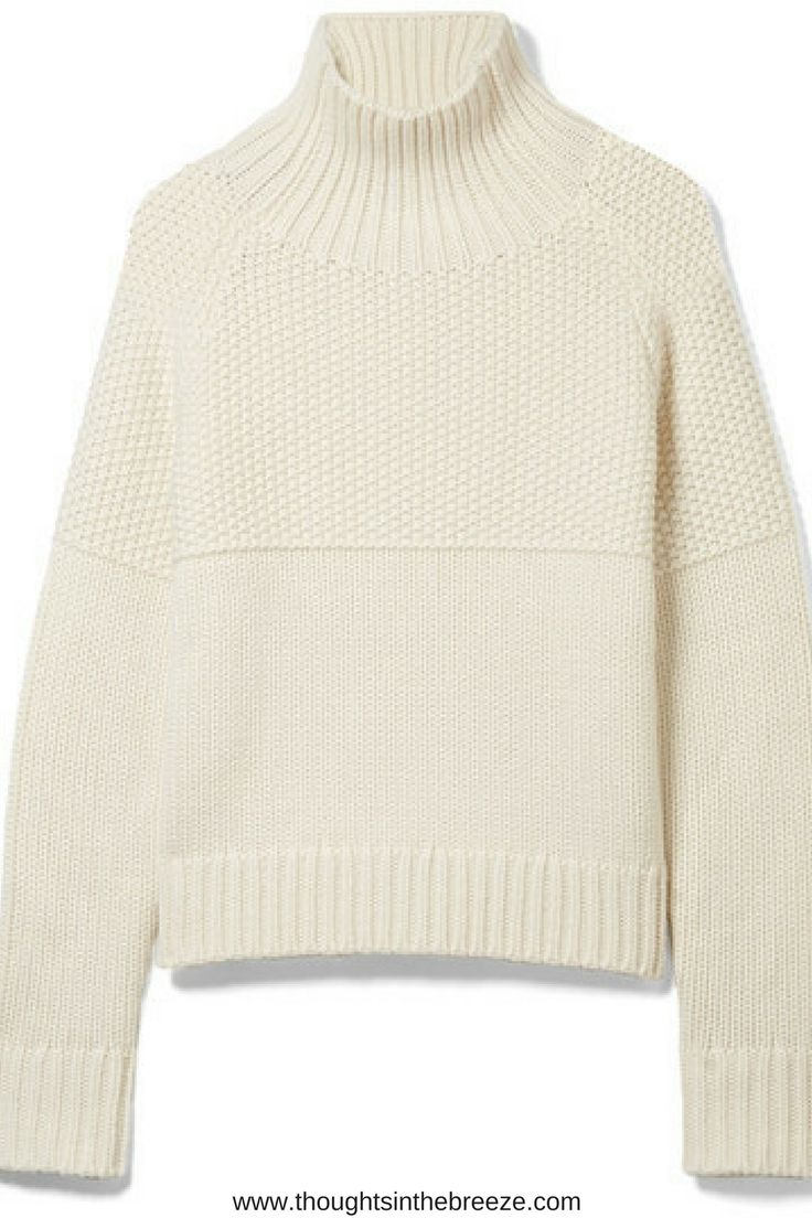 Burberry Burberry - Dawson Cashmere Turtleneck Sweater - Off-white $795.  Spun from sumptuous cashmere, Burberry's 'Dawson' sweater is paneled with a tactile mix of honeycomb, ribbed and classic knit stitches inspired by heritage English designs. It has a cozy turtleneck collar and loose fit that's easy to layer. Try yours with checked or tartan pants. #burberry, #cashmere, #affiliate this contains affiliate links