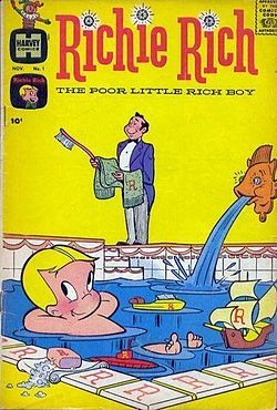 """Richie Rich comics - Google Search - My friend Alicia had a huge collection of Richie Rich comic books. My parents wouldn't buy us comic books, though we did have a subscription to """"Mad"""" later in our childhoods."""
