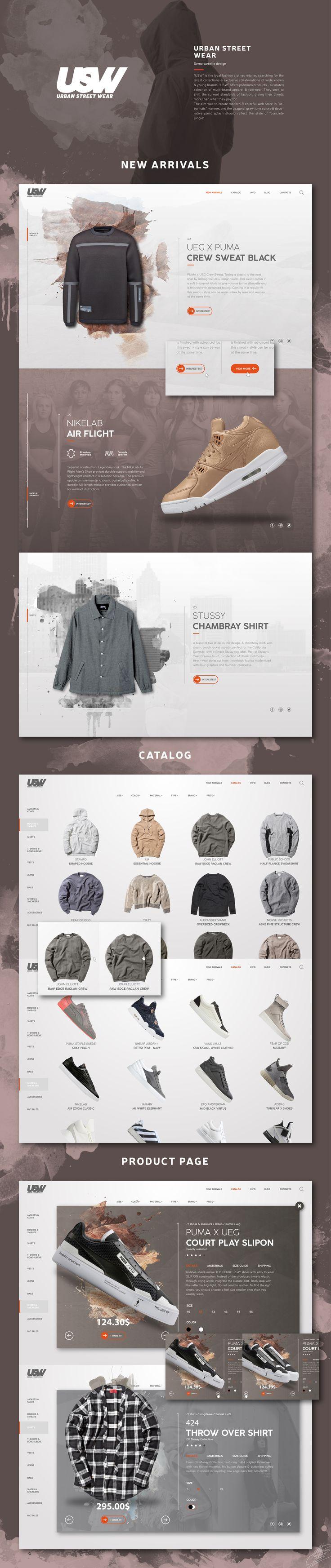 다음 @Behance 프로젝트 확인: \u201cUrban Street Wear SIte\u201d https://www.behance.net/gallery/42987681/Urban-Street-Wear-SIte