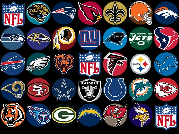 Pin by madlyne Smith on crafts All nfl teams, Nfl logo, Nfl