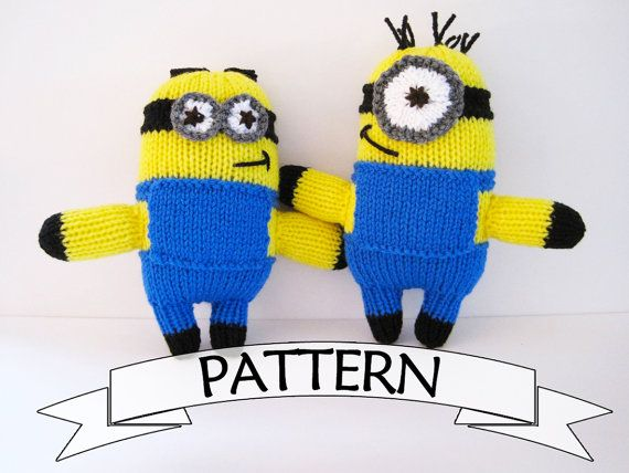 Minion Toy PATTERN Knit Your Own Minion Doll Minion by KnitToo