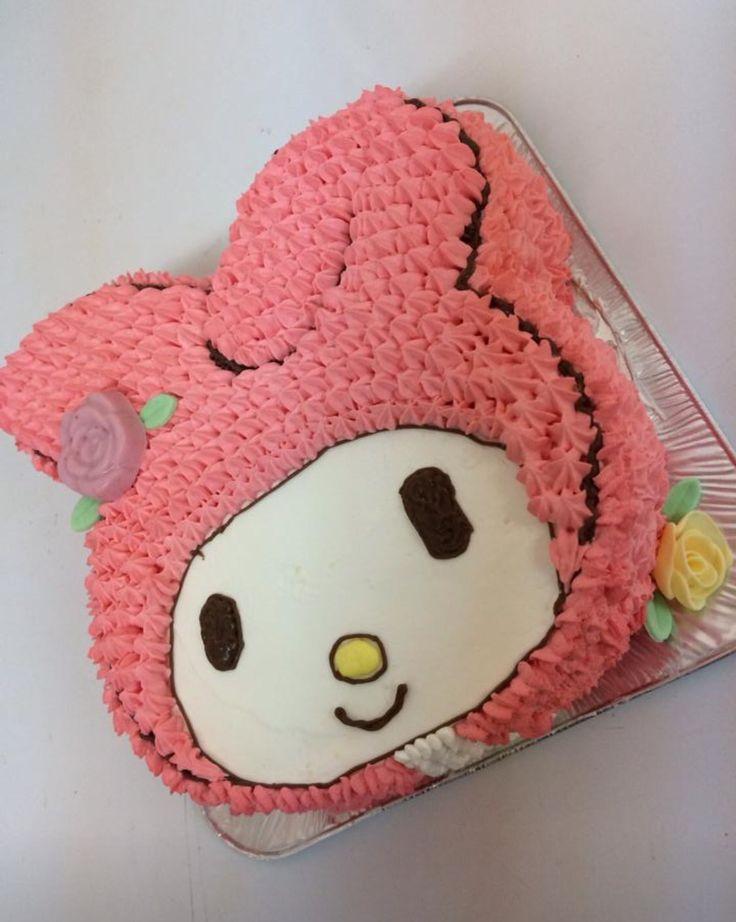 ピンクが大好きな娘さんのケーキ