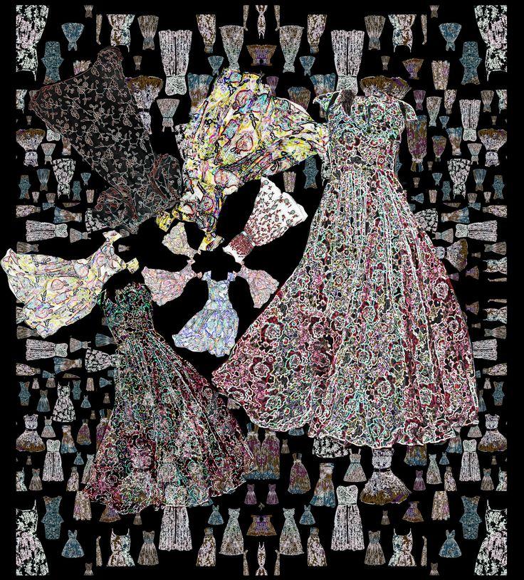 textile pattern dresses