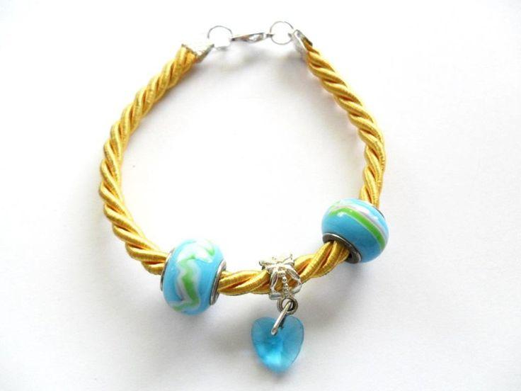 bransoletka 19 cm Boho style - Multicolor w Kokonek na DaWanda.com