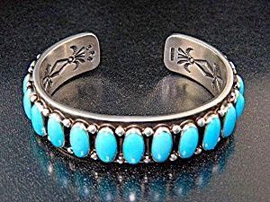 Native American Sterling Silver Sleeping Beauty Cuff
