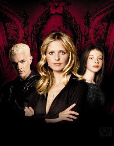 Spike (James Marsters), Buffy Summers (Sarah Michelle Gellar) & Dawn Summers (Michelle Trachtenberg) in Buffy, The Vampire Slayer