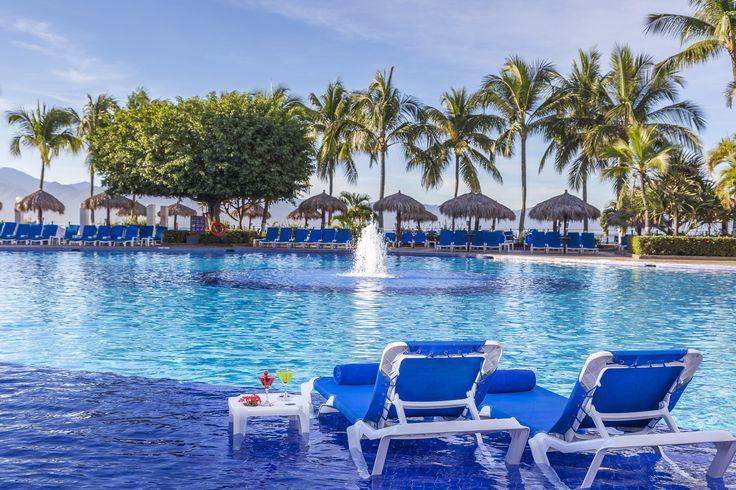The main pool at the Melia Puerto Vallarta.