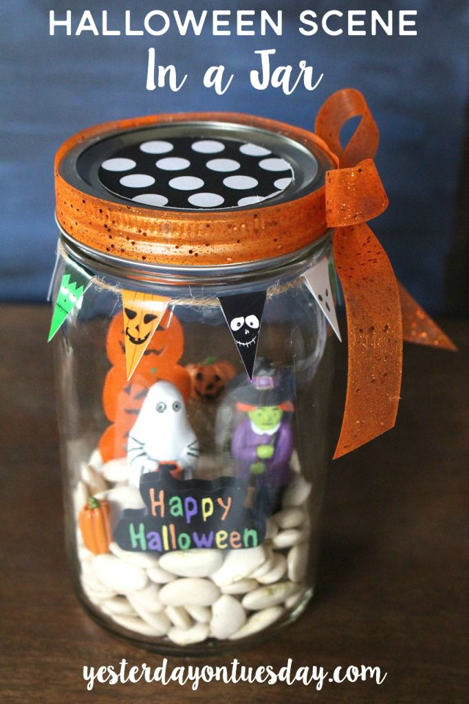 Give kids all the supplies to make this Halloween scene and watch their creativity run wild.