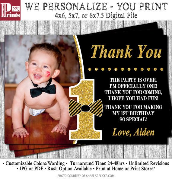 25 best Birthday thank you cards ideas – 1st Birthday Thank You Cards