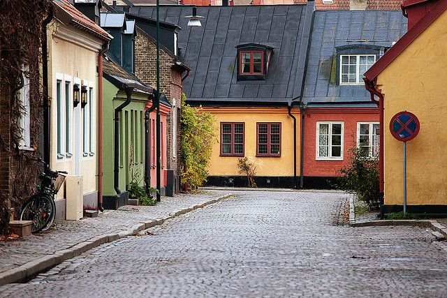 ✔ | Colorful Street, Lund, Sweden