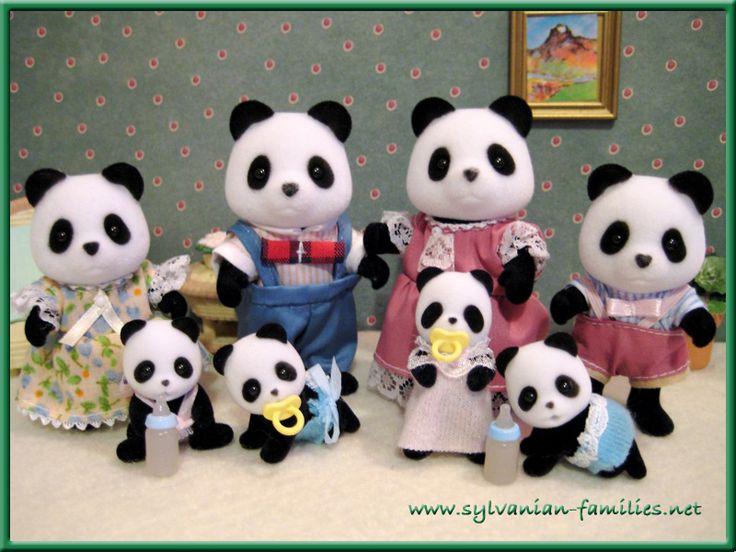 Sylvanian families/Calico Critters panda family