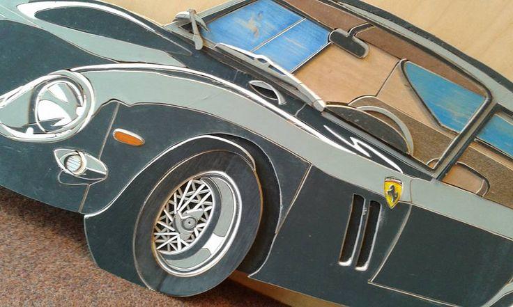 Ferrari gemaakt van sloophout , door Henri Wittenberg Markelo