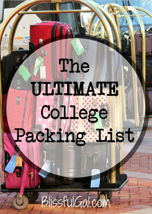 The time to move into your college dorm is right around the corner.  This huge college packing list will have you extremely prepared for move-in!