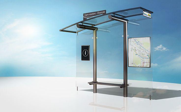 Conception 3D d'une gamme d'abris bus pour le Pays Voironnais. #design #3d #pays-voironnais