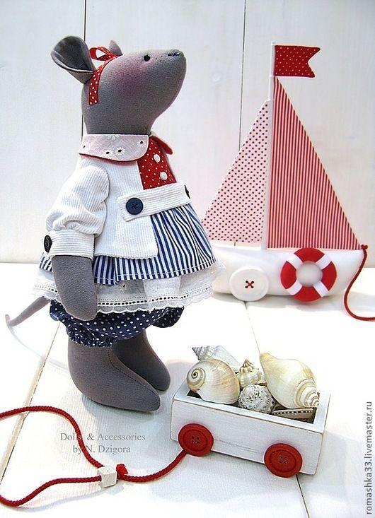 Игрушки животные, ручной работы. Морские мыши. Дзигора Наталья. Ярмарка Мастеров. Морской стиль, душевный подарок, полоски, коттон
