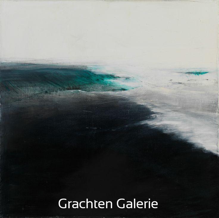 Z.t. 1 | Andre Hoppzak | Schilderij | Paiting | Kunst | Art | Blauw | Blue | Wit | White | Grijs | Grey | Zwart | Black | Grachten Galerie