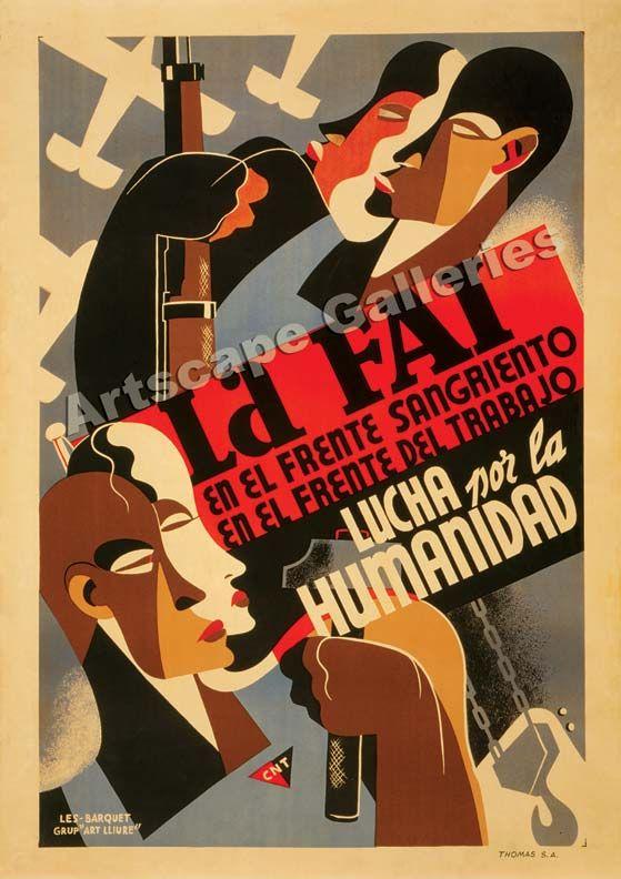 1930s Spanish civil war poster.