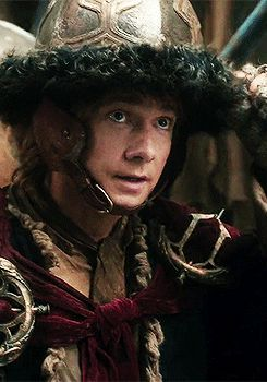 Remember that time when Bilbo looked like a little and charming Attila the Hun?