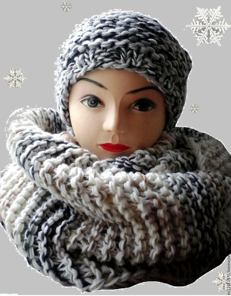 Купить ВЯЗАНЫЙ КОМПЛЕКТ ШАПКА И СНУД - Вязание крючком, вязание на заказ, вязание спицами