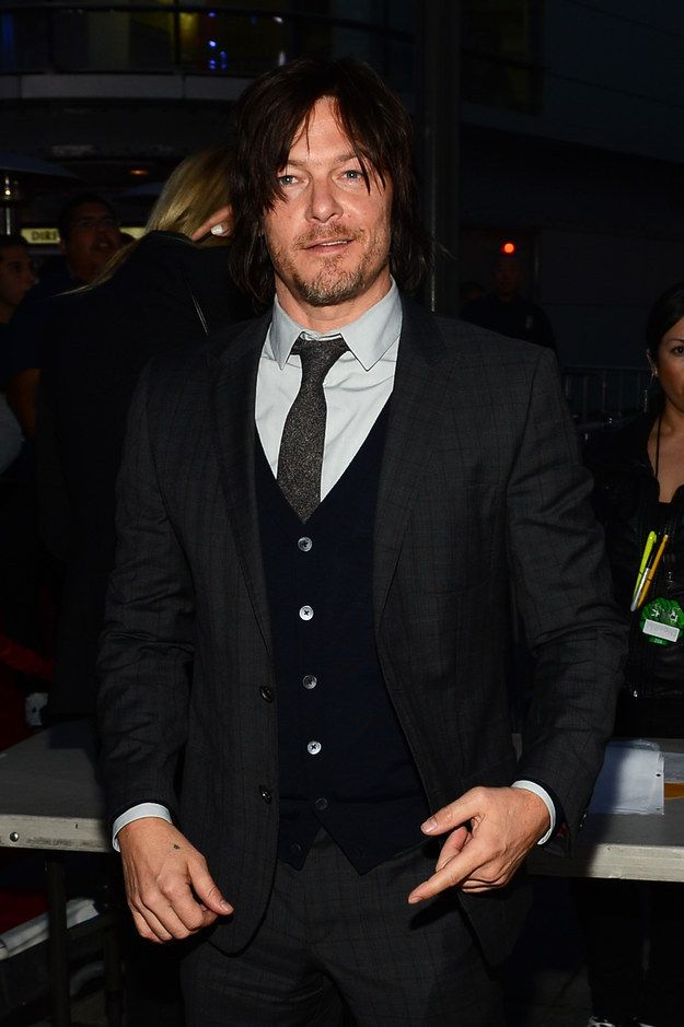 Just a gentle reminder that this is Norman Reedus, badass Daryl Dixon on The Walking Dead .