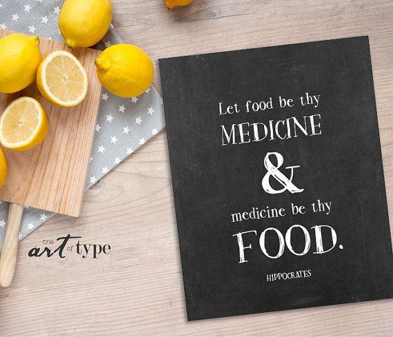 Hippokrates Zitat drucken lassen Sie essen werden von theARTofTYPE