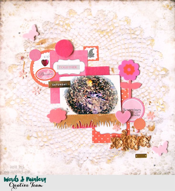 Layout created by Tusia Lech featuring Wonderland collection