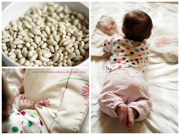 Prosta mata sensoryczna dla niemowlaka www.dzieciakiwdomu.blogspot.com