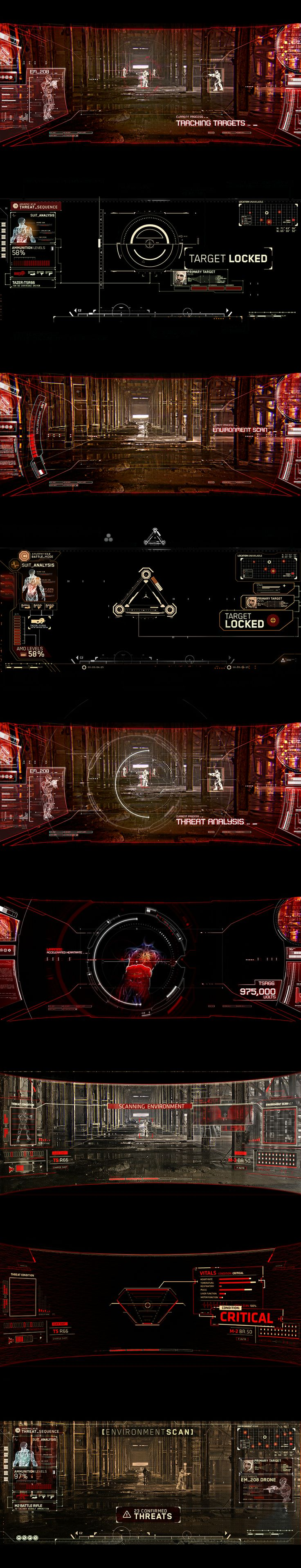 Robocop (2014) - HUD Design Check out more of our work: www.perceptionnyc.com