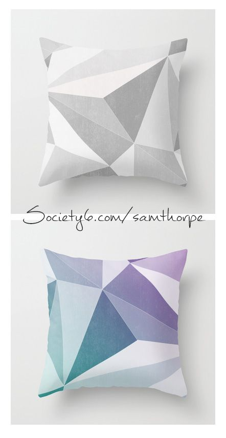 Geometric Decor. Indoor/Outdoor throw pillows  Purchase: http://society6.com/samthorpe  Follow me: www.facebook.com/pages/ST-Illustrations/292448024146314