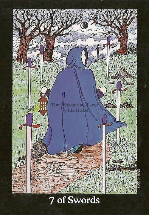 Tarot Notes A Journey Through My Tarot Decks The Magician: Tarot Notes: 7 Of Swords: Astrological Associations