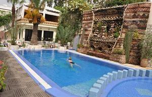 Marokko Atlantische Kust Agadir  Stijlvol en bijzonder charmant hotel met traditionele decoraties. Het restaurant en de lounge zijn zeer sfeervol ingericht en de binnenplaats met zwembad is smaakvol en met oog voor detail...  EUR 455.00  Meer informatie  #vakantie http://vakantienaar.eu - http://facebook.com/vakantienaar.eu - https://start.me/p/VRobeo/vakantie-pagina