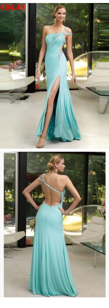 A-Linie aus Chiffon 1-Schulter Rückenfrei Bodenlang Blau Elegante Abendkleider lang: : :    Specifications;:    ÄRMELLÄNGE: Ärmellos; AUSSCHNITT: 1-Schulter; RÜCKEN: Rückenfrei; SAUMLÄNGE / SCHLEPPE: Bodenlang; SILHOUETTE: A-Linie; STOFF: Chiffon; VERZIERUNG: Rhinestone