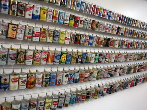 Beer Can Collection My Husband Wishes I Wanted To Do This Collections In 2018 Pinterest Canning And Art