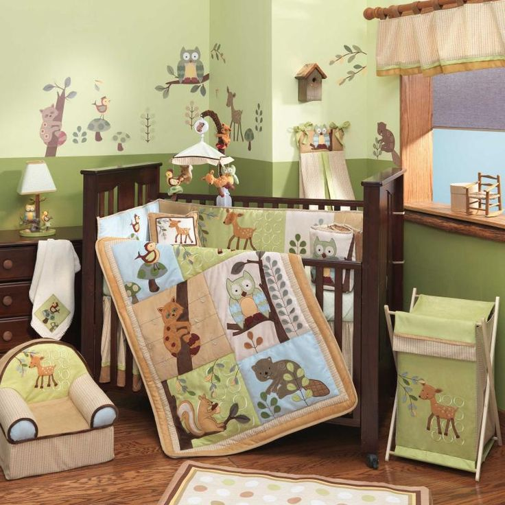 Enchanted Forest 5 Piece Baby Crib Bedding Set By Lambs Ivy