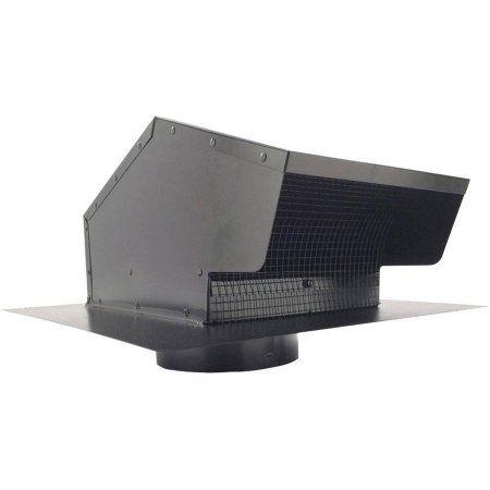 Builders Best 012633 Black Metal Roof Vent Cap, 6 inch Collar