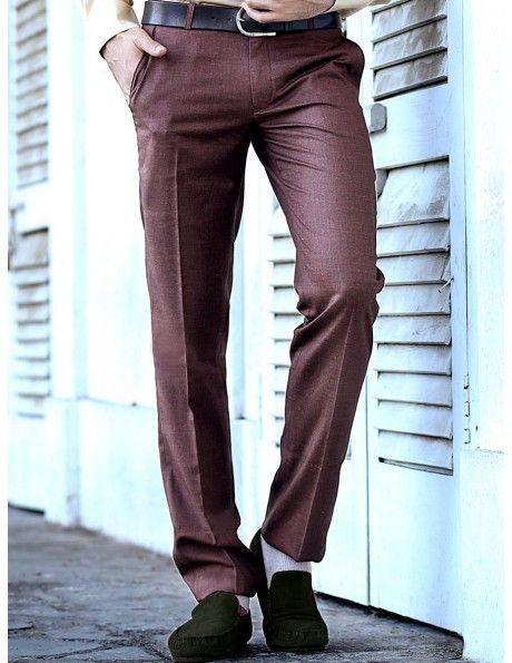 Buy Coffee Brown Formal Trouser Online. http://www.bharatplaza.com/mens-wear/trousers.html