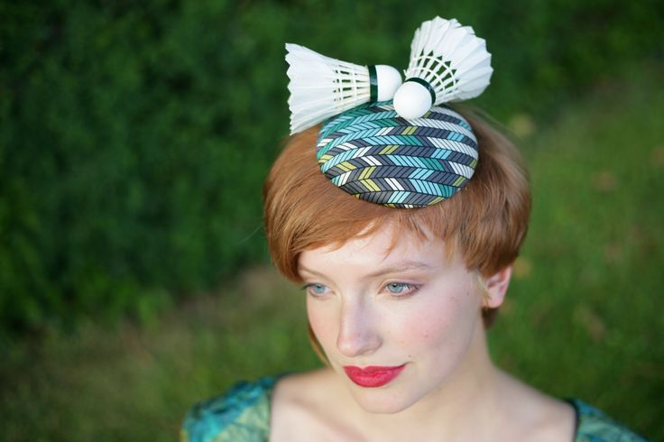 Shuttlecock Hat, Ascot,The Races http://www.theheadmistressboutique.com/ https://www.etsy.com/uk/shop/headmistressboutique?ref=si_shop