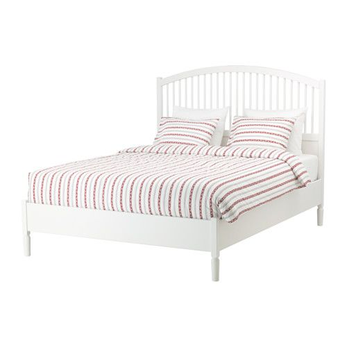 IKEA - TYSSEDAL, Bed frame, Luröy, Standard Double, , Adjustable bed sides allow you to use mattresses of different thicknesses.17 slats of layer-glued birch adjust to your body weight and increase the suppleness of the mattress.