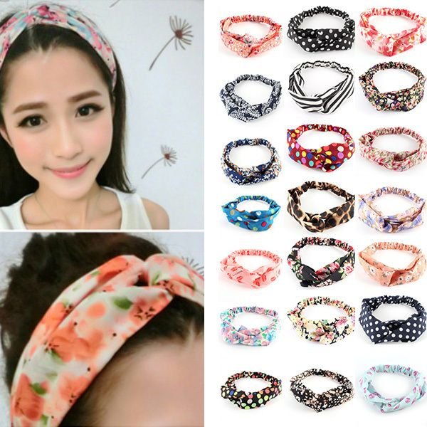 2015 Fashion Girls Casual Yoga Elastic Turban Twisted Knotted Hair Band Headband On Sale
