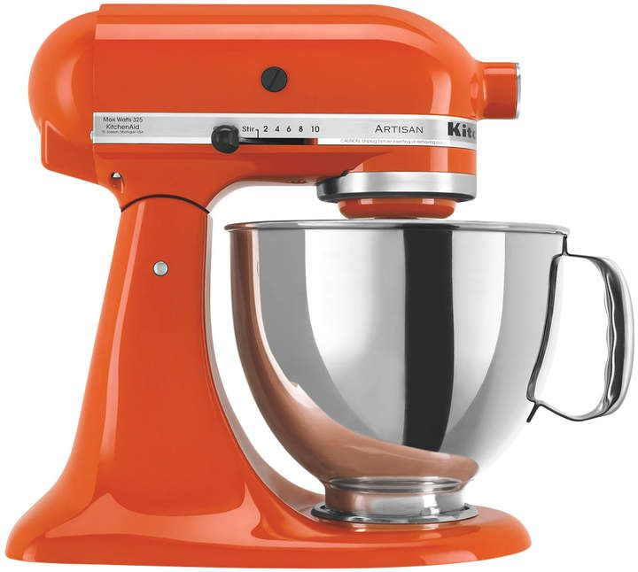 What a splash of color! This KitchenAid Artisan Tilt Head Stand Mixer (affiliate link) is on sale now.