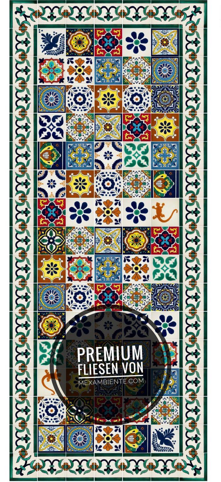 Hochwertige handbemalte mexikanische Fliesen von Mexambiente in Premium Qualität von Mexambiente für die Küche, Bad, Treppenstufen #wandfliesen #fliesenspiegel #fliesen #buntefliesen #mexikanisch #azulejos #portugiesischefliesen #spanischefliesen #patchwork #muster #musterfliesen #dekorfliesen #designfliesen #mexicantiles #mexambiente