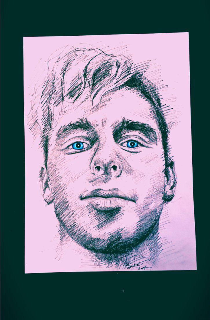Donny Montell #Donnymontell #art artwork #blue #green #blueeyes #eyes #penicl #pencilart #draw #drawing