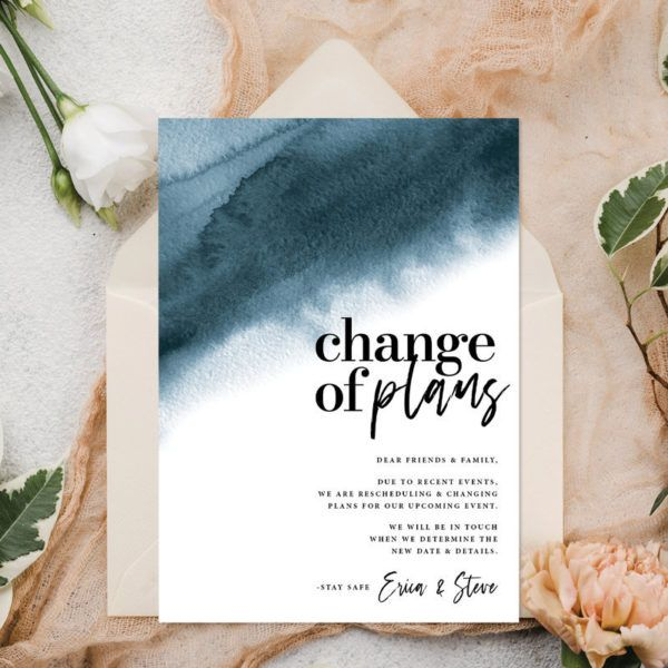 15 Change The Date Announcements A Practical Wedding In 2020 Practical Wedding Event Invitation Design Digital Invitations Design