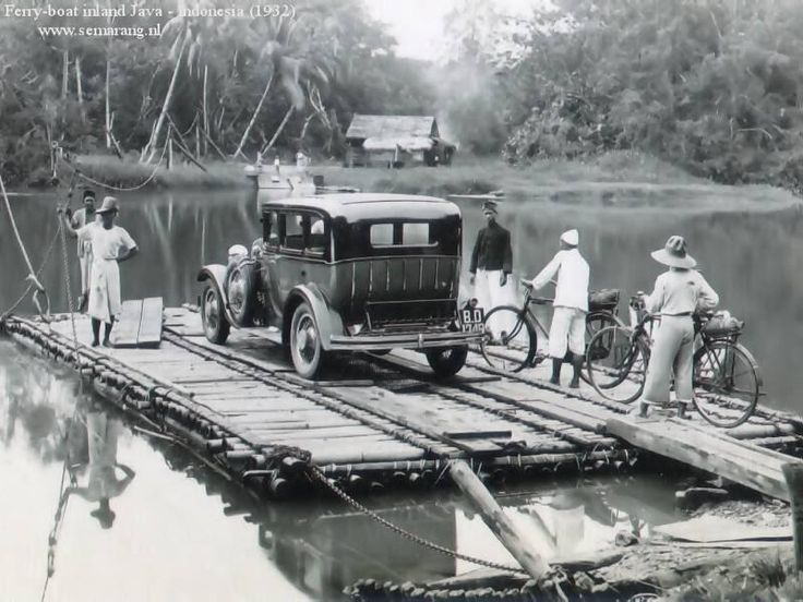 ferry boat in Java, Indonesia, 1932