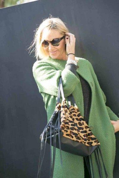 Me encanta este abrigo verde que le da alegría y luminosidad a mi look de hoy! #moda #estilo #tendencias